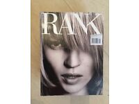 Rank magazine - Issue 00 - Kate Moss cover. Very Rare.