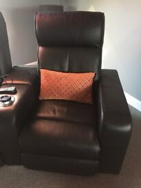 !! REDUCED !! Premiere Home Cinema Seating - 2 Seater Black