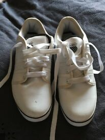 Brand new never worn k Swiss white trainers size 11 excellent condition sold as seen gifted wrong sz