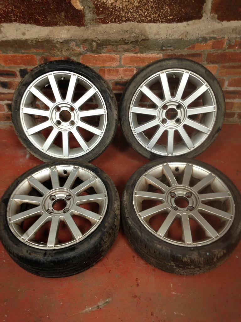 ford fiesta st mk6 16 inch alloy wheels in cardenden fife gumtree. Black Bedroom Furniture Sets. Home Design Ideas