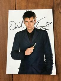 Signed David Tennant doctor who photo