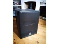 Yamaha DXS 15 Sub. Used about 5 times. Great condition. 3 years manufacturers warranty remaining.