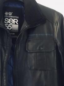 Cross Hatch medium Black leather look jacket. As new.