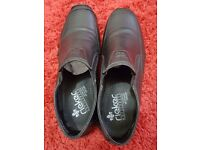Mens real leather shoes mens rickers shoes black size 9