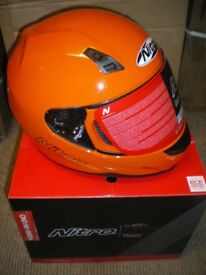 JOB LOT OF 6 BRAND NEW NITRO FULL FACE HELMETS POWERBOAT RACING MOTORCYCLES SCOOTERS. LARGE.