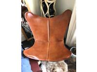 Designer Original Leather butterfly chair BKF
