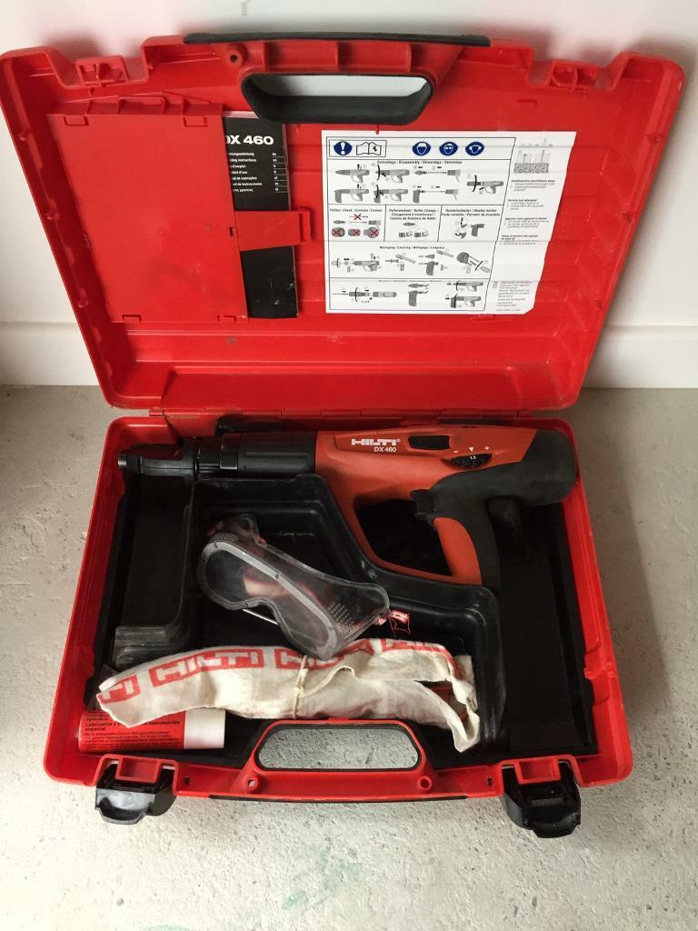 HILTI DX460 powder actuated nail gun F8 single shot head with nails and cartridges £380 o.n.o