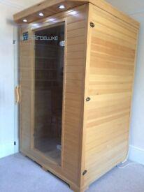 Infrared Sauna Cabin Redsun M HOME DELUXE