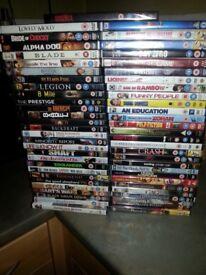 57 DVD Mixed Genre New in wrapper **£25 the lot**