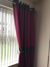 "90""x90"" fully lined curtains"