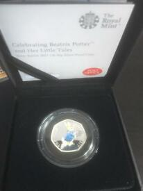 Peter Rabbit Silver Proof 50p Coin Limited Edition