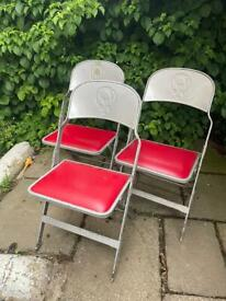 3 x sci fi/retro fold out chairs
