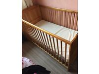 Cot bed wit mattress