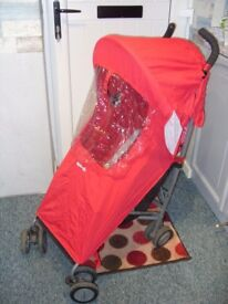 Maclaren buggy in red