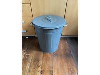 Ikea Grey metal bin with lid 40 litre Kitchen waste