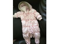 Next Snowsuit in Excellent condition for 0-3 Months