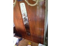 Reduced!! Double wardrobe, will need a van, shabby projects, need gone asap.