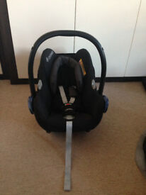 2 Maxi Cosi Cabriofix Car Seats with Bases and Raincovers