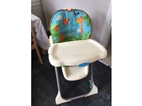 Used Fisher price rain forest high chair