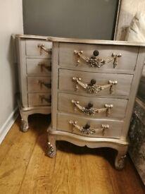 2 Dunelm Vintage Bedside Cabinets, Both For Sale for £150 ONO