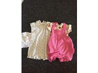 Girls 3-6 Months Next Rompers