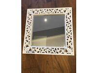 White decorative mirror square