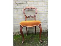 ANTIQUE BEDROOM CHAIR FREE DELIVERY VICTORIAN DRESSING TABLE CHAIRS HALLWAY