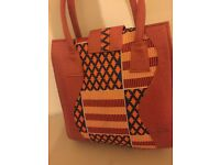 100% leather and cotton ladies shopping bag by Lee Read Designs
