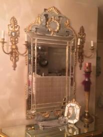 2 x Large Wall sconces