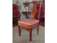 6 Genuine Chinese Rosewood dining chairs & new single bed mocca headboard