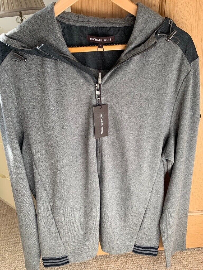 2204f9af758 Men s Micheal Kors (L) Grey Hoodie Cardigan Brand New with Tags ...