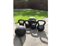 Kettel bells weights various kg