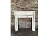 Traditional cream fireplace