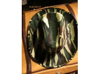 GREEN CAMOUFLAGE COWGIRL HAT NEW PARTY OR HEN DO HAVE MORE HATS FOR SALE