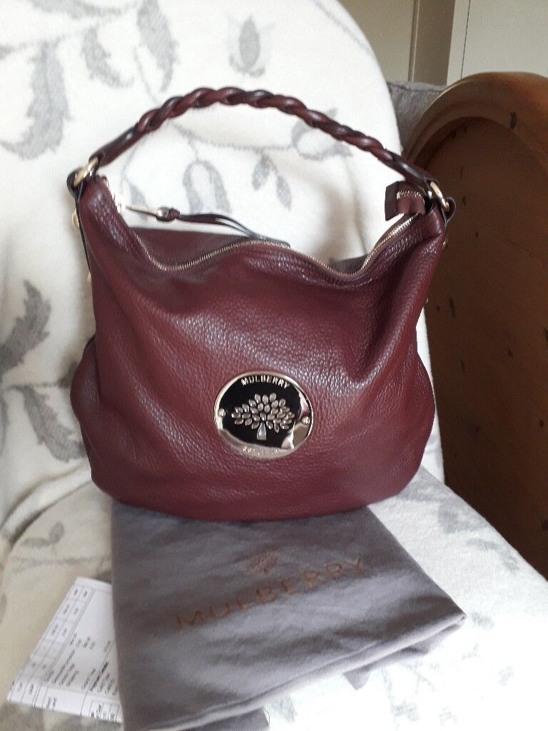 4144d4d7c681 brand new authentic mulberry medium oxblood daria hobo handbag