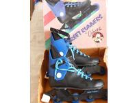 Ozbozz Street Runner inline boots, size 5