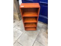 Wooden Bookcase - Narrow great for hallways.