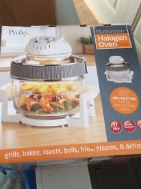 Prolex Multifunction Halogen Oven 17 litre unwanted present still in the box hence brand new. £25.00