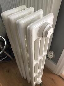 Freestanding cast iron 4 bar radiator