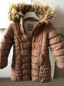 Girls winter coat, age 4
