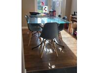 Glass dinning table 100x180