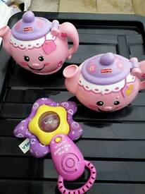 Fisher Price TeaPots And Vtech Peek A Boo Toy £1 Each