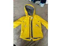 Baby boys yellow raincoat