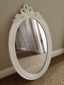 NEXT oval hanging mirror