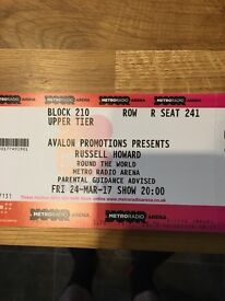 2 x Russell Howard - round the world tickets ( metro arena Newcastle )
