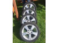 Mazda 205-50, 17'' Alloy Wheels with tyres ( set of 4),
