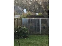 7 Galvanised metal fence panels