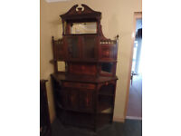 PENDING SALE - Beautiful Edwardian Wooden Chiffoniere Display Cabinet with Storage
