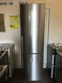 John Lewis fridge freezer stainless steel 3 months warranty free local delivery!!!!!!!