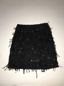 Ladies PLT Sequin Skirt UK 8